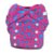 Fralda ecológica noturna pocket Mayaru Rosa com corações - Imagem 1