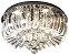 Plafon Sobrepor LED Cristal e Acrílico Greta 45cm 24W 3000K - Imagem 1