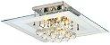 Luminária/Plafon Sobrepor Quadrado Cristal Legítimo Roma Branco 40cm G9  - Startec - Imagem 1