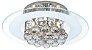 Luminária/Plafon Sobrepor Redondo Cristal Legítimo Roma Branco 40cm G9  - Startec - Imagem 1