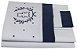 Jogo Lençol para Berço 3pçs C/ Vira Bordada Royal Azul Marinho Blubrelel Baby - Imagem 1