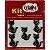 Botões Divertidos Kit Super Criativo Gato Preto PT c/ 5 Unidades - Imagem 1