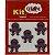 Botões Divertidos Kit Super Criativo Polvo PT c/ 5 Unidades - Imagem 1