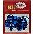 Super Lantejoula Azul Claro Kit Super Criativo 14mm PT c/ 10 grs - Imagem 1