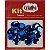 Super Lantejoula Azul Escuro Kit Super Criativo 14mm Pt c/ 10 grs - Imagem 1