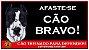 Placa Afaste-se Cão Bravo - Imagem 1