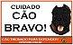Placa Cuidado Cão Bravo - Imagem 1