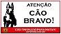 Placa Atenção Cão Bravo - Imagem 1