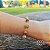 Pulseira Capim Dourado c/ Pedra Sol Cód. P412 - Hipoalergênico - Imagem 2
