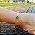 Pulseira Capim Dourado c/ Pedra Natural Ágata Verde Cód. P427 - Hipoalergênico - Imagem 1