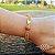 Pulseira Capim Dourado c/ Pedra Sol Cód. P426 - Hipoalergênico - Imagem 1