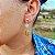 Brinco Capim Dourado C/ Pedra Natural Quartzo Rosa Cód. B407 - Hipoalergênico - Imagem 2