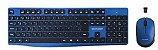 Teclado e Mouse Sem Fio Multilaser 2.4 GHZ USB Preto e Azul - TC246 - Imagem 1