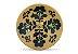 Incensário de Cerâmica em Floral - Verde Petróleo - Inca aromas - Imagem 1