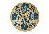 Incensário de Cerâmica em Floral - Azul Alemão - Inca aromas - Imagem 1