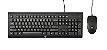 Kit Teclado e Mouse USB Preto, HP C2500 - Imagem 1