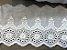 Tira Bordada 8,00 cm - 100% algodão branco | Peça com 7,20 m  - Imagem 3