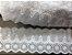 Tira Bordada 8,00 cm - 100% algodão branco | Peça com 7,20 m  - Imagem 2