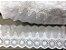 Tira Bordada 8,00 cm - 100% algodão branco | Peça com 7,20 m  - Imagem 1