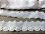 Tira Bordada 5,00 cm - 100% algodão branco | Peça com 7,20 m - Imagem 2