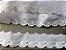 Tira Bordada 5,00 cm - 100% algodão branco | Peça com 7,20 m - Imagem 4