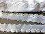Tira Bordada 5,00 cm - 100% algodão branco | Peça com 7,20 m - Imagem 1