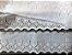 Tira Bordada 8,20 cm - 100% algodão branco | Peça com 7,20 m - Imagem 3