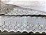 Tira Bordada 8,20 cm - 100% algodão branco | Peça com 7,20 m - Imagem 1