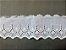 Tira Bordada 8,20 cm - 100% algodão branco | Peça com 7,20 m - Imagem 2