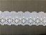 Tira Bordada 5,60 cm - 100% algodão branco   Peça com 14,40 m  - Imagem 2