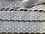 Tira Bordada 5,60 cm - 100% algodão branco   Peça com 14,40 m  - Imagem 1