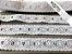 Passa Fita 3,40 cm - MISTO 92% Algodão 8% Poliéster branco    Peça com 7,20m - Imagem 1