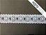Passa Fita 3,40 cm - MISTO 92% Algodão 8% Poliéster branco    Peça com 7,20m - Imagem 2