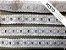 Passa Fita 3,40 cm - MISTO 92% Algodão 8% Poliéster branco    Peça com 7,20m - Imagem 3
