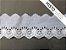Tira Bordada 7,00 cm - MISTO 92% Algodão 8% Poliéster branco | Peça com 14,40 m - Imagem 2