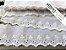 Tira Bordada 7,30 cm - MISTO 92% algodão 8% Poliéster branco   Peça com 7,20 m - Imagem 3