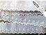 Tira Bordada 7,30 cm - MISTO 92% algodão 8% Poliéster branco   Peça com 7,20 m - Imagem 1