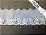 Tira Bordada 7,30 cm - MISTO 92% algodão 8% Poliéster branco   Peça com 7,20 m - Imagem 2