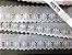 Tira Bordada 5,50 cm - MISTO 92% algodão 8% branco | Peça com 14,40 m - Imagem 1