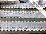 Tira Bordada 4,50 cm - MISTO 92% algodão 8% Poliéster branco | Peça com 7,20m - Imagem 3
