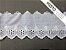Tira Bordada 8,00 cm - MISTO cerca de 92% algodão e 8% poliéster | Peça com 7,20 m - Imagem 2
