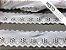 Tira Bordada 4,50 cm - MISTO 92% algodão 8% Poliéster branco | Peça com 7,20m - Imagem 1