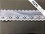 Tira Bordada 4,50 cm - MISTO 92% algodão 8% Poliéster branco | Peça com 7,20m - Imagem 2
