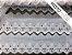 Tira Bordada 8,00 cm - MISTO cerca de 92% algodão e 8% poliéster | Peça com 14,40 m - Imagem 1