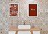 Kit Quadro Banheiro Masc Fem com Moldura e Vidro - Imagem 1
