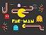 Quadro Games Vintage Pac-Man com Moldura E Vidro - Imagem 1
