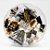Kit Escritório Clips, Tachinha, binder clips, elástico cor Preto Sl- 190088 - Imagem 1