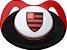 Chupeta Flamengo Silicone Ortodôntico Lolly - Imagem 1