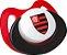 Chupeta Flamengo Silicone Ortodôntico Lolly - Imagem 2