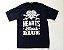 "Hearts Bleed Blue ""Brasão Branco"" Camiseta Azul - Imagem 1"